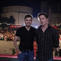 Actor Emile Hirsch, Director David Gordon Green, film PRINCE AVALANCHE, Open Air Programme, Ljetno kino !hej, 2013, © Obala Art Centar