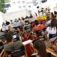 Crew of the film CARMEN, Press Conference, Festival Square, 2013, © Obala Art Centar