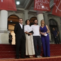 Crew of the film WHEN EVENING FALLS ON BUCHAREST OR METABOLISM, Red Carpet, 2013, © Obala Art Centar