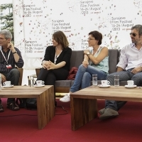 Coffee with ... Programme, Competition Programme Feature Film Jury, 19th Sarajevo Film Festival, Festival Square, 2013, © Obala Art Centar