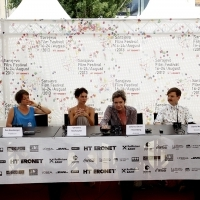 Crew of the film SOLDATE JEANNETTE, Press Conference, Festival Square, 2013, © Obala Art Centar
