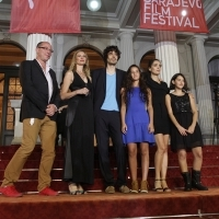 Crew of the film IN BLOOM, Red Carpet, 19th Sarajevo Film Festival, 2013, © Obala Art Centar