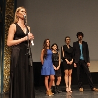 Crew of the film IN BLOOM, National Theater, 19th Sarajevo Film Festival, 2013, © Obala Art Centar