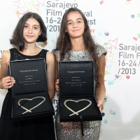 Festival Awards, Actresses Lika Babluani and Mariam Bokeria, IN BLOOM, 19th Sarajevo Film Festival, National Theater, 2013, © Obala Art Centar