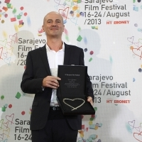 Festival Awards, Roberto Olla, Honorary Heart of Sarajevo, 19th Sarajevo Film Festival, National Theater, 2013, © Obala Art Centar