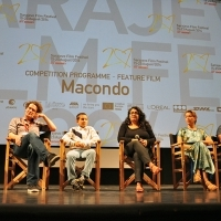 Cast and crew of the film MACONDO, Press conference, National Theatre, Sarajevo Film Festival, 2014 (C) Obala Art Centar