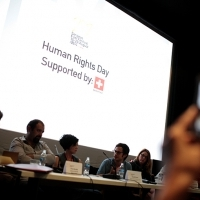 Panel POINT OF NO RETURN, Human Rights Day, Cinema City Multiplex, Sarajevo Film Festival, 2014 (C) Obala Art Centar