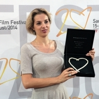 Tiha K. Gudac - Director of the film NAKED ISLAND - Heart of Sarajevo for Best Documentary Film, Festival Awards, Sarajevo Film Festival, 2014 (C) Obala Art Centar