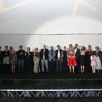 Cast and crew of the film LOVE ISLAND, After Screening, KSC Skenderija, Sarajevo Film Festival, 2014 (C) Obala Art Centar