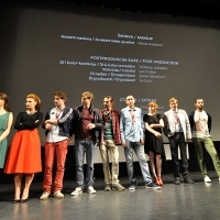 Cast and crew of the film THE DISOBEDIENT, National Theatre, Sarajevo Film Festival, 2014 (C) Obala Art Centar