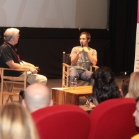 Opening of the 8th Talents Sarajevo, Conversation with Gael García Bernal, Meeting Point Cinema, Sarajevo Film Festival, 2014 (C) Obala Art Centar