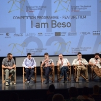 Cast and crew of the film I AM BESO, Press conference, National Theatre, Sarajevo Film Festival, 2014 (C) Obala Art Centar