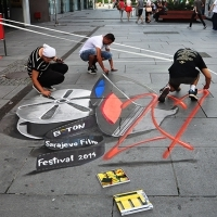 Teen Arena events, Plateau in front of BBI center, Sarajevo Film Festival, 2014 (C) Obala Art Centar