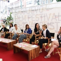 Debate on No Hate Speech Movement, Festival Square, Sarajevo Film Festival, 2014 (C) Obala Art Centar