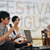 Yi'nan Diao - Director of the film BLACK COAL, THIN ICE, Gwei Lun Mei - Actress of the film BLACK COAL, THIN ICE, Coffee With... Programme, Festival Square, Sarajevo Film Festival, 2014 (C) Obala Art Centar
