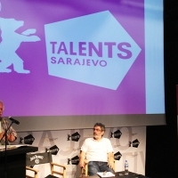Katriel Schory and Simon Perry, Lecture, Talents Sarajevo, Academy of Performing Arts, Sarajevo Film Festival, 2014 (C) Obala Art Centar