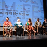 Cast and crew of the film SONG OF MY MOTHER, Press conference, Sarajevo Film Festival, 2014 (C) Obala Art Centar