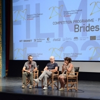 Cast and crew of the film BRIDES, Press conference, National Theatre, Sarajevo Film Festival, 2014 (C) Obala Art Centar