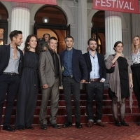 Cast and crew of the film LAND OF STORMS, Red Carpet Ceremony, National Theatre, Sarajevo Film Festival, 2014 (C) Obala Art Centar