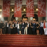 Cast and crew of the film THOUSAND, Avant Premiere, Red Carpet, National Theatre, 21. Sarajevo Film Festival, 2015 (C) Obala Art Centar