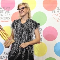 Jasmila Žbanić, ONE DAY IN SARAJEVO, HUMAN RIGHTS AWARD, COMPETITION PROGRAMME – DOCUMENTARY FILM, National Theatre, 21. Sarajevo Film Festival, 2015 (C) Obala Art Centar