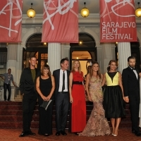 Cast and crew from film THE HIGH SUN, Red Carpet, National Theatre, 21. Sarajevo Film Festival, 2015 (C) Obala Art Centar