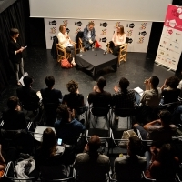 TRACING THE UNTHINKABLE, Case study of SON OF SAUL by Laszlo Nemes and Clara Royer, moderated by Noemi Schory, ASU Open Stage, Academy of Performing Arts, 21. Sarajevo Film Festival, 2015 (C) Obala Art Centar