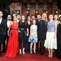 Director and casts of the film BACK HOME, Red Carpet, National Theatre Sarajevo, 21. Sarajevo Film Festival, 2015 (C) Obala Art Centar