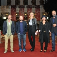 Director and casts of the film CHEVALIER, Red Carpet, National Theatre Sarajevo, 21. Sarajevo Film Festival, 2015 (C) Obala Art Centar