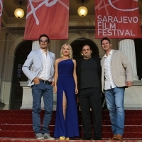 Actor Branko Đurić, actress Tanja Ribič, director Ante Novaković and producer Marc Jacobson from the film LEAVES OF THE TREE, Red Carpet, National Theatre, 21. Sarajevo Film Festival, 2015 (C) Obala Art Centar