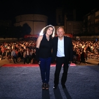 Director of THE SECOND MOTHER Anna Muylaert and director of Sarajevo Film Festival Mirsad Purivatra, HT Eronet Open Air Cinema, 21st Sarajevo Film Festival, 2015 (C) Obala Art Centar