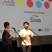 Screening of SUPERWORLD followed by Q&A Session with Kaan Müjdeci moderated by Nataša Govedarica, Competition Programme - Features, Nathional Theatre, 21. Sarajevo Film Festival, 2015 (C) Obala Art Centar