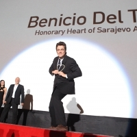 Benicio Del Toro Recieved the Honorary Heart of Sarajevo, A PERFECT DAY, HT Eronet Open Air Cinema, 21. Sarajevo Film Festival, 2015 (C) Obala Art Centar