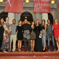 Cast and crew of the Film PANAMA, Red Carpet, National Theatre, 21. Sarajevo Film Festival, 2015 (C) Obala Art Centar