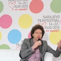 Michel Franco, Coffee With... Programme, Festival Square, 21. Sarajevo Film Festival, 2015 (C) Obala Art Centar