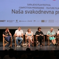 Competition Programme Press Conference OUR EVERYDAY LIFE, National Theatre, 21. Sarajevo Film Festival, 2015 (C) Obala Art Centar