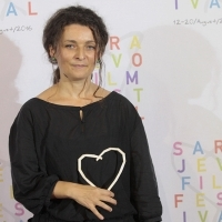 Monica Lazurean-Gorgan, A MERE BREATH / DOAR O RASUFLARE, HEART OF SARAJEVO FOR BEST DOCUMENTARY FILM, Photo Call, Festival Square, , 21. Sarajevo Film Festival, 2015 (C) Obala Art Centar