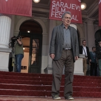 Stephen Frears, recipient of the Honorary Heart of Sarajevo, Open Air Programme, Red Carpet, National Theatre, 22. Sarajevo Film Festival, 2016 (C) Obala Art Centar