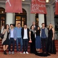 Cast and crew of the film A DECENT WOMAN, Competition Programme - Features Film, Red Carpet, National Theatre, 22. Sarajevo Film Festival, 2016 (C) Obala Art Centar