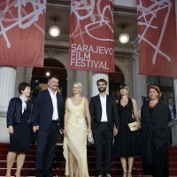 Cast and crew of the film SIERANEVADA, In Focus, Red Carpet, National Theatre, 22. Sarajevo Film Festival, 2016 (C) Obala Art Centar