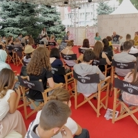 Docu Corner - Live Forum: Conversation with Mihajlo Jevtić, FOUR PASSPORT, Competition Programme - Documentaries, Docu Corner, Festival Square, 22. Sarajevo Film Festival, 2016 (C) Obala Art Centar