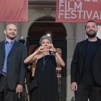 Jure Pavlović, Fatima Djoumer and Dušan Kasalica, Competition Programme - Short Film Jury, Red Carpet, Red Carpet, National Theatre, 22. Sarajevo Film Festival, 2016 (C) Obala Art Centar