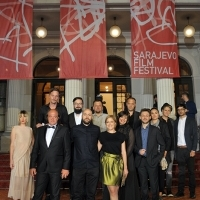 Cast and crew of the film ALL THE CITIES OF THE NORTH, BH Film, Competition Programme - Out of Competition, Red Carpet, National Theatre, 22. Sarajevo Film Festival, 2016 (C) Obala Art Centar