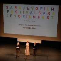 Robert De Niro, Opening ceremony of 22nd Sarajevo Film Festival at the National theatre Sarajevo, hosted by Bosnian actress Alena Džebo, 22nd Sarajevo Film Festival, 2016 (C) Obala Art Centar