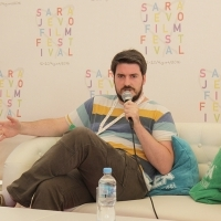 Conversation with Ognjen Glavonić, director of DEPTH TWO, Competition Programme - Documentaries, Docu Corner, Festival Square, 22. Sarajevo Film Festival, 2016 (C) Obala Art Centar