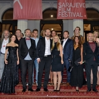 Cast and crew of the film THE BLACK PIN, Competition Program – Feature Film, Red Carpet, National Theatre, 22. Sarajevo Film Festival, 2016 (C) Obala Art Centar