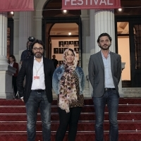 Director Mohamed Ben Attia (HEDI), director Amna Al Binali (THE NOTEBOOK) and Ali Khechen (Film Workshops & Labs / Qumra Industry Manager), SFF Partner Presents: Doha Film Institute, Red Carpet, National theatre, 22. Sarajevo Film Festival, 2016 (C) Obala Art Centar