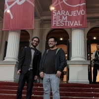David Gonzalez and Vladan Petković, Cineuropa Jury, Red Carpet, National Theatre, 22. Sarajevo Film Festival, 2016 (C) Obala Art Centar