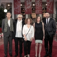 Thomas Hailer, Elia Suleiman, Zeynep Atakan, Angeliki Papoulia and Nikola Đuričko, Competition Programme - Feature Film Jury, Red Carpet, National Theatre, 22. Sarajevo Film Festival, 2016 (C) Obala Art Centar