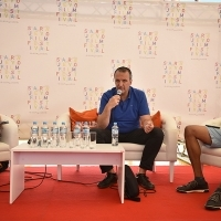 Conversation with Namik Kabil, director of THE HEART OF WOOD, Competition Programme - Documentaries, Docu Corner, Festival Square, 22. Sarajevo Film Festival, 2016 (C) Obala Art Centar